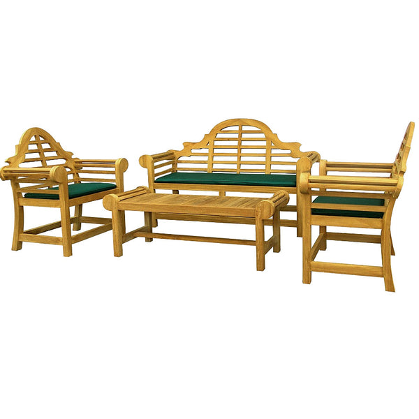 Lutyens Table Set - Edward Lutyens Marlborough Teak Table Set