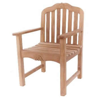 Carving Garden Arm Chair