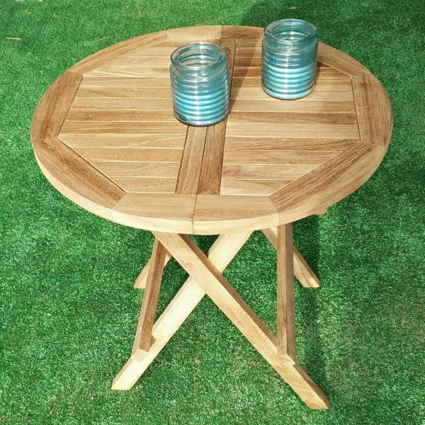 Bali Round Folding 50cm Picnic Table