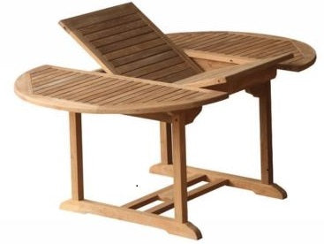 4-8 Seat 1.8m Teak Single Extending Round Garden Table