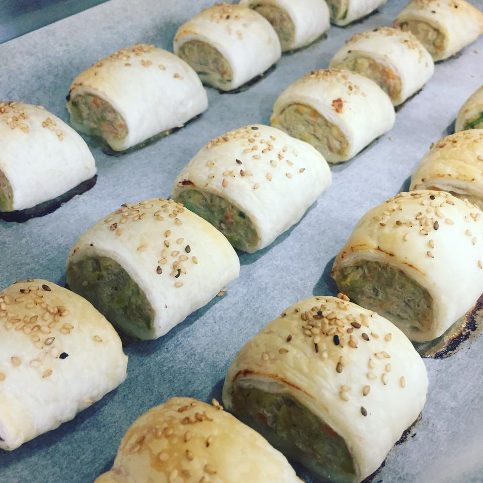 Veggie Loaded Turkey Sausage Rolls