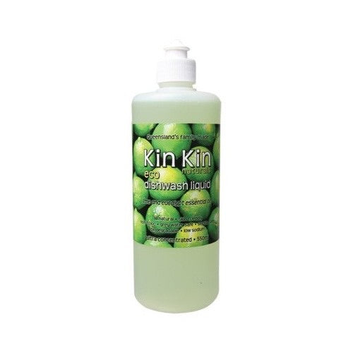 Kin Kin Dishwash Liquid (Ultra Conc.) Lime & Eucalyptus 550ml