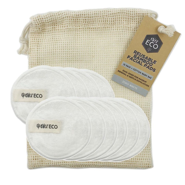 Ever Eco Reusable Bamboo Facial Pads 10 pack