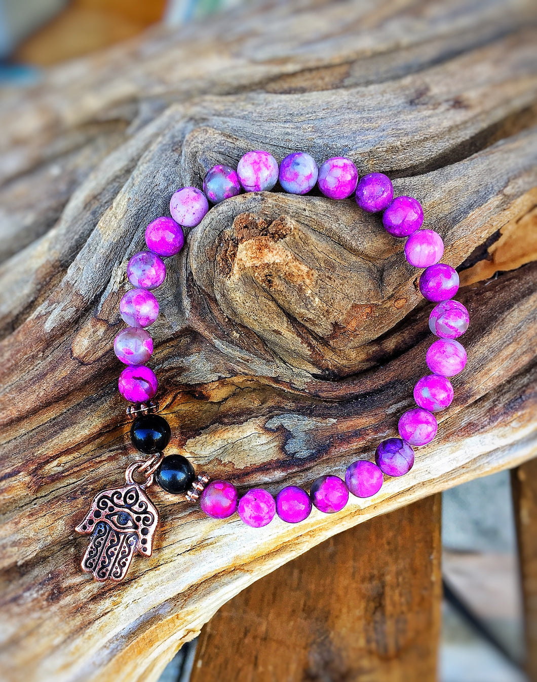 Hamsa Mala Crystal Intention Bracelet
