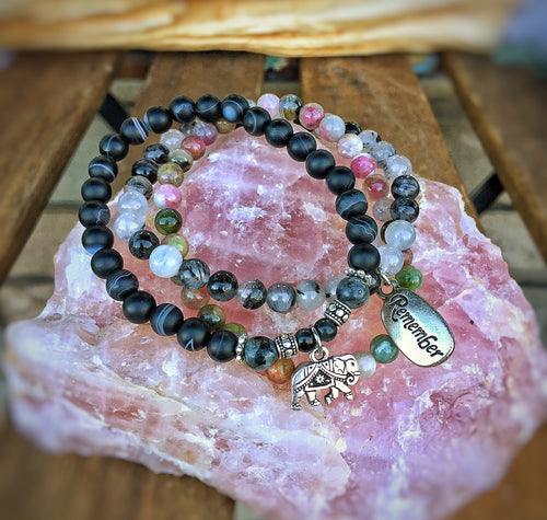 Clarity of Intention  - Mala Crystal Bracelet Stack