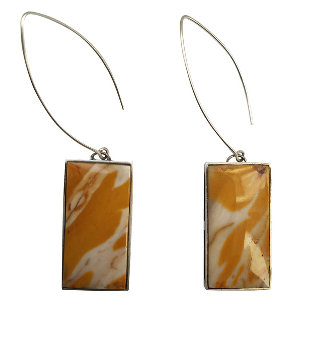 Peacock Collection -  Yellow Mookaite Earrings
