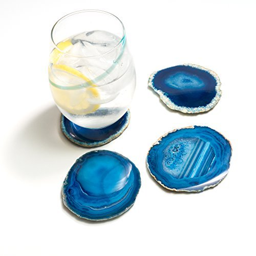 Natural Crystal Sliced Agate Coasters