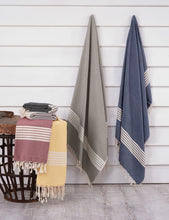 Load image into Gallery viewer, Honeycombed Stripe Towel