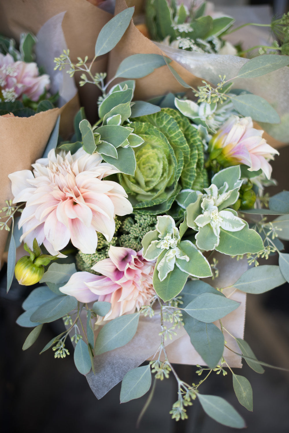 Succulent bouquet by Brother and Sister Flowers