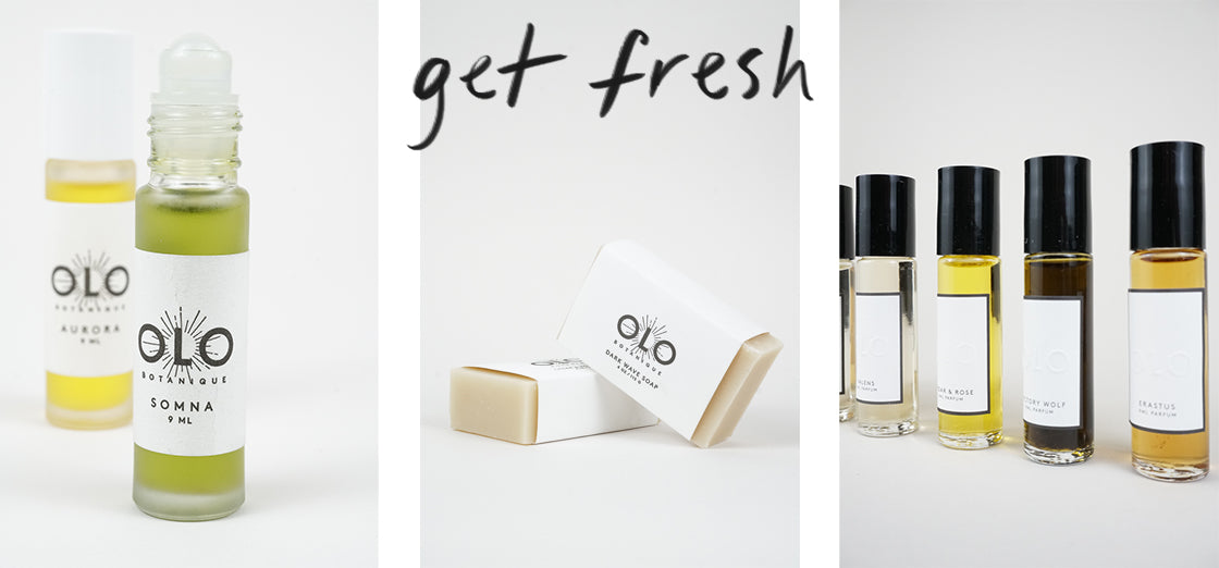 Handmade perfumes and soaps by Olo at Crown Nine Jewelry in Oakland