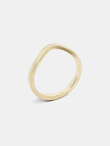 Arbor Arching Band in 14k yellow gold with signature matte finish.