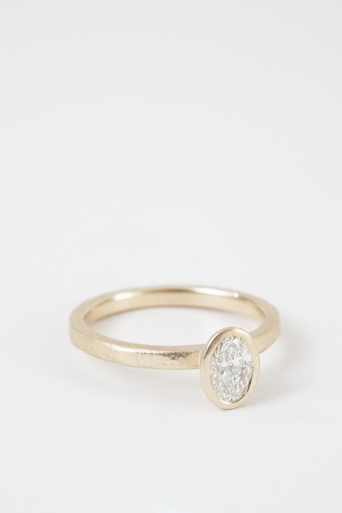 Waterlily Oval Solitaire by Kate Ellen