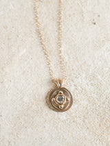 Four Corners Pendant - Antique Diamond
