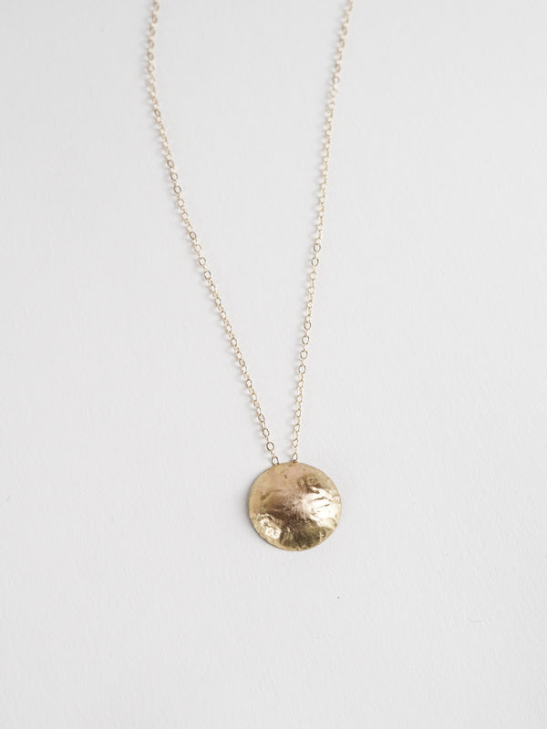 Golden Disc Necklace