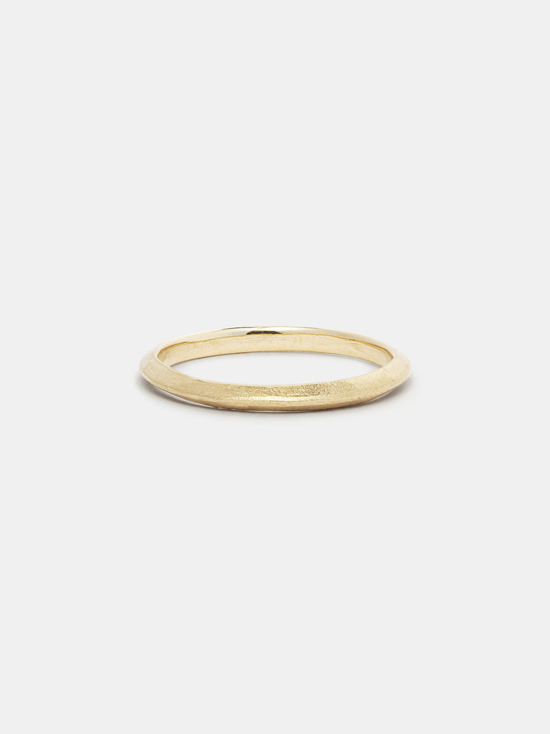 Shown: 14k yellow gold with organic texture and signature matte finish.