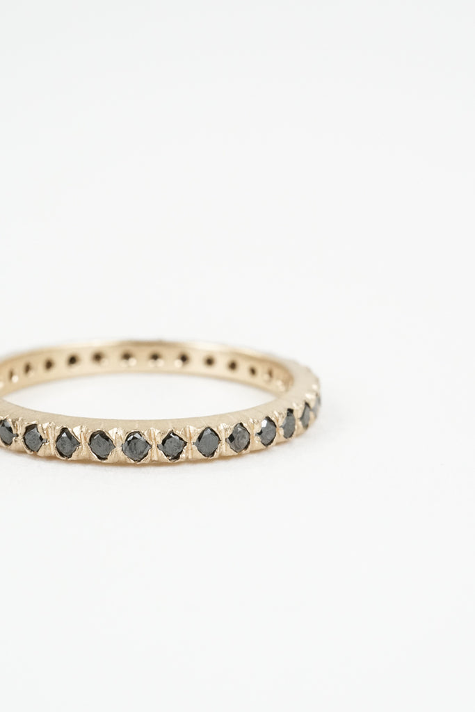 The Black Petite Lily Eternity Wedding Band