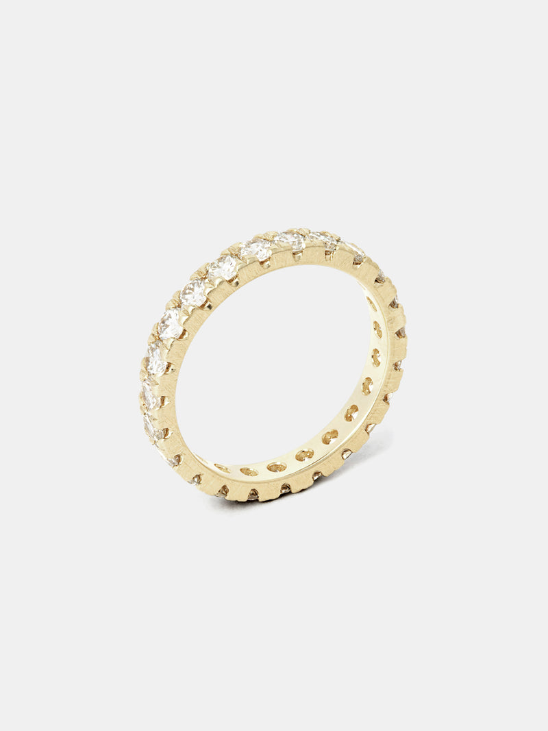Lily Pavé Eternity Band - 2.5mm Diamonds