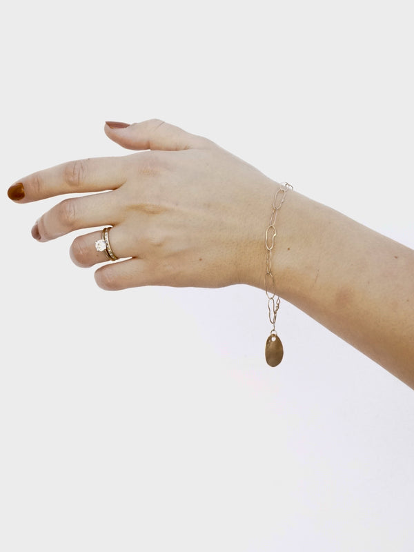 Shown: Link bracelet in 14k yellow gold with signature matte finish.