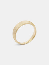 Mitsuro Band- Tapered in 14k yellow gold with signature matte finish.