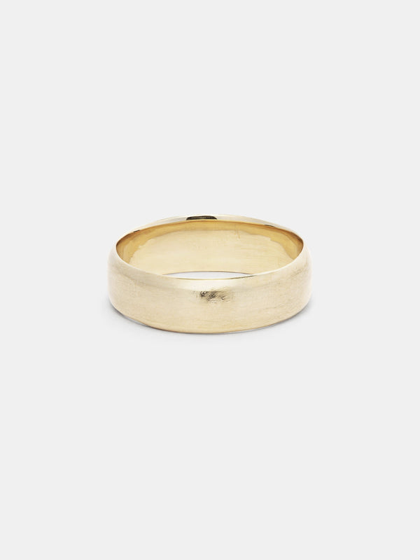 Shown: 14k yellow gold with dual matte/polish finish.