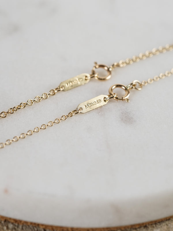 Fairmined 1.2mm Cable Chain - 14k yellow gold