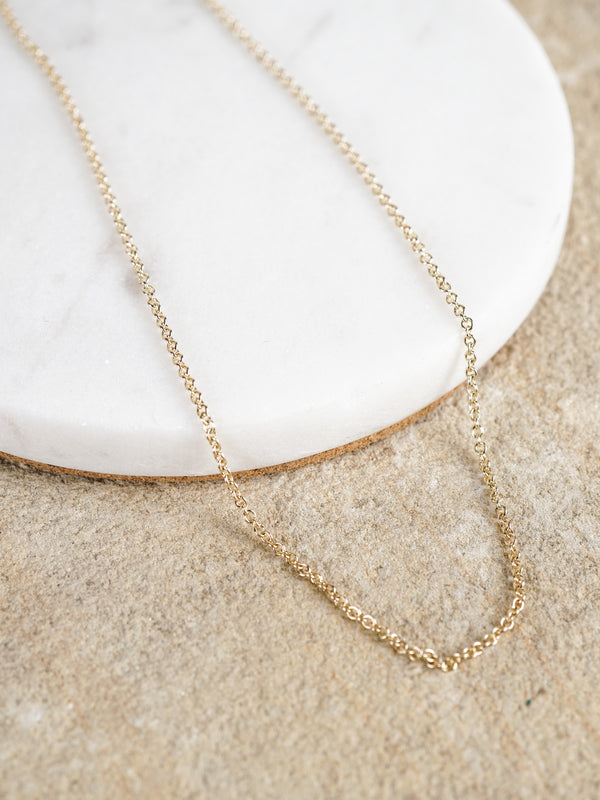 Shown: 1.5mm Fairmined cable chain.