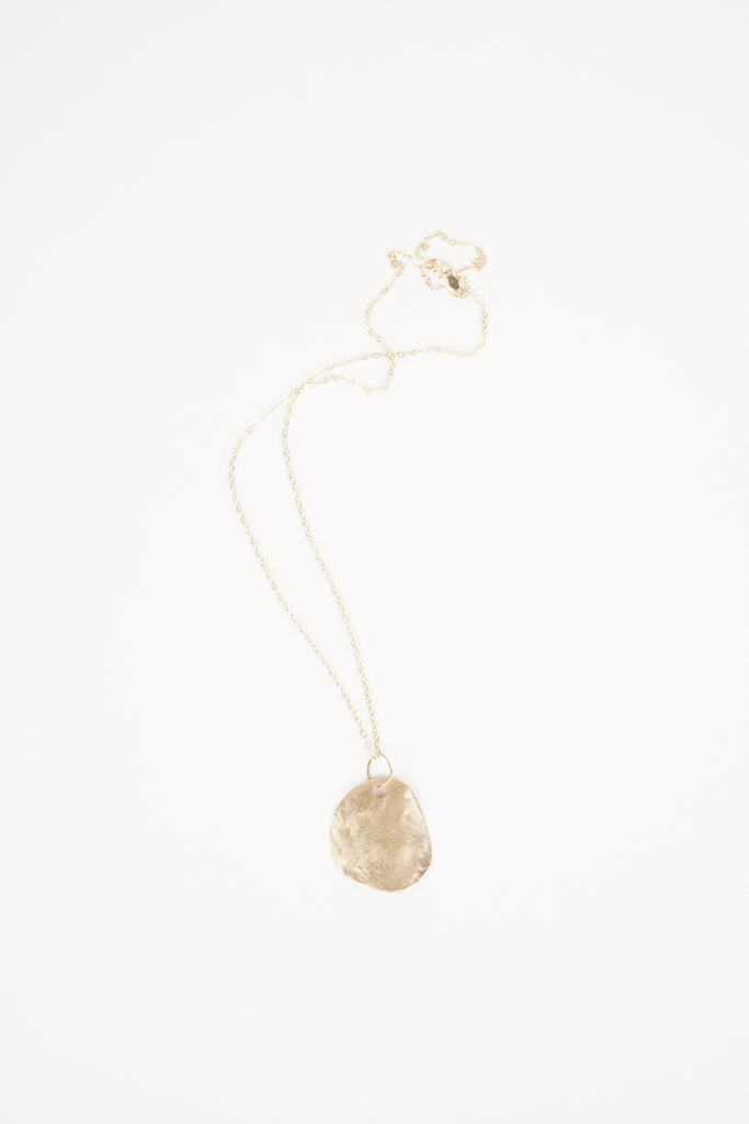 14k Gold Rose Petal Necklace