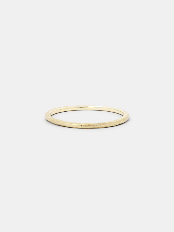 Shown: 14k yellow gold with organic texture and matte finish.