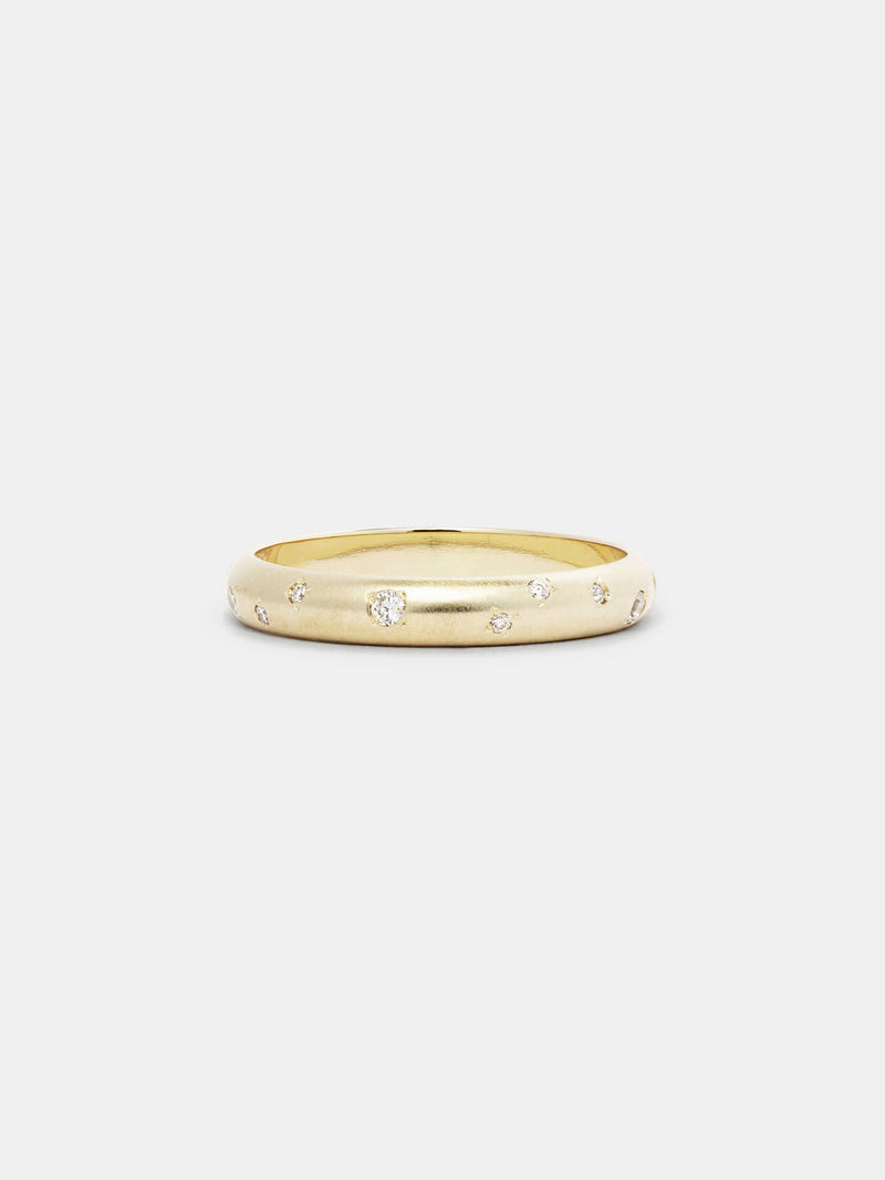 Shown: 14k yellow gold with signature matte finish.