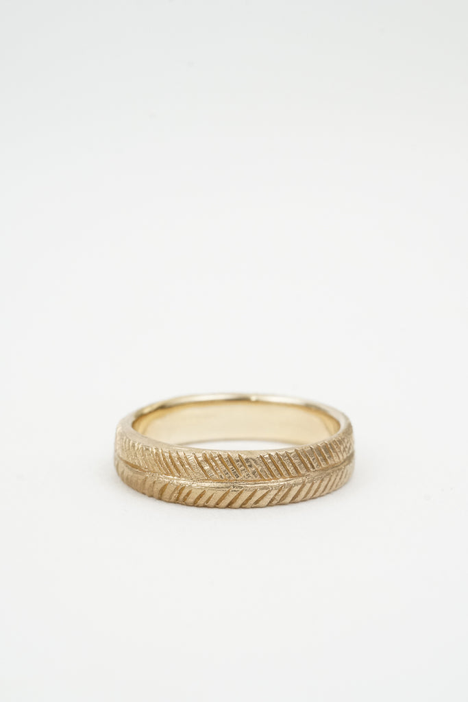 The Wide Wisteria Wedding Band