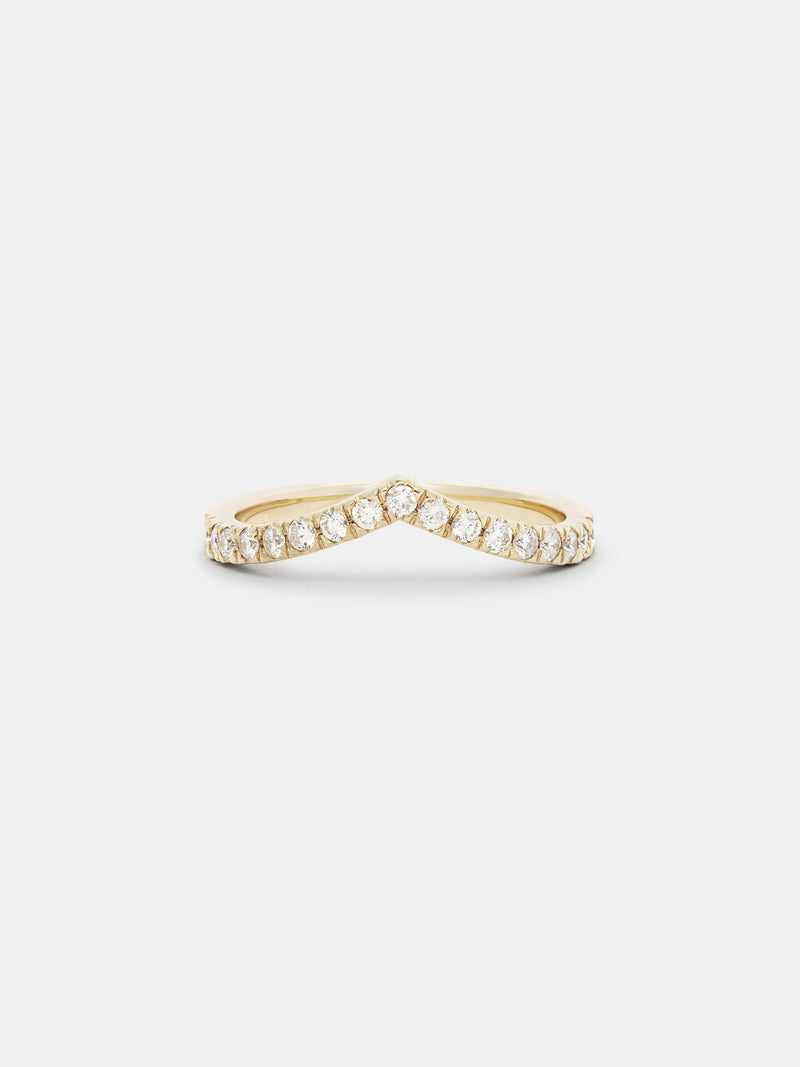 Shown: 14k yellow gold with smooth texture and signature matte finish.
