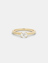 Shown: 0.5ct near colorless antique diamond in 14k yellow gold with signature matte finish.