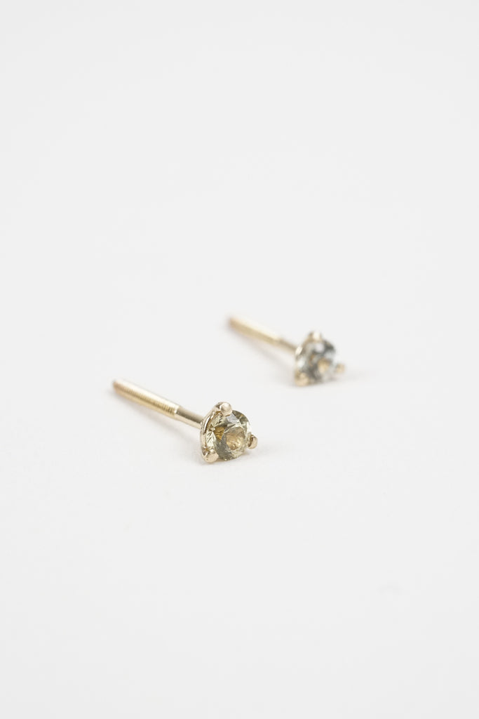 dc652195f 2.5mm Sapphire Studs by Kate Ellen | CROWN NINE JEWELRY – Crown Nine