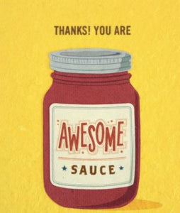 """Awesome Sauce"" Card"