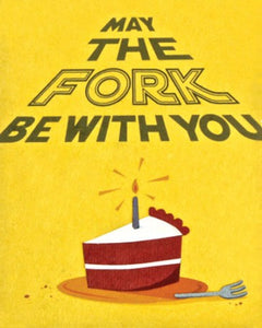 """May the Fork be with You"" Card"