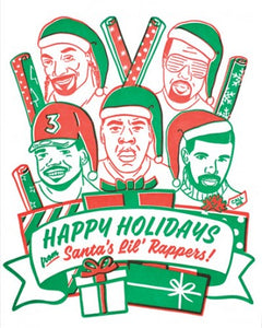 """Happy Holidays"" Santa's Rappers Card"