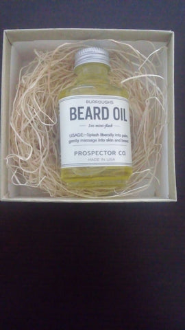 burroughs prospector co beard oil