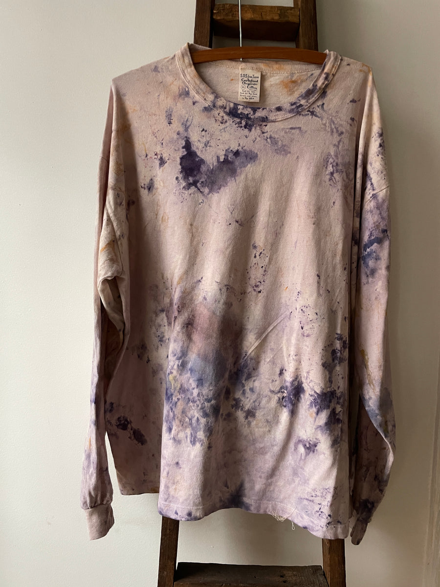 Ice Dyed Organic Cotton Tee - Multi