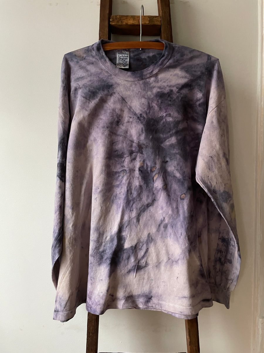 Ice Dyed Organic Cotton Tee - Logwood