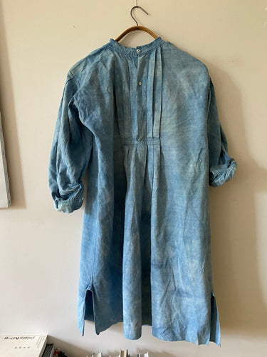 Indigo Antique French Linen Night Shirt