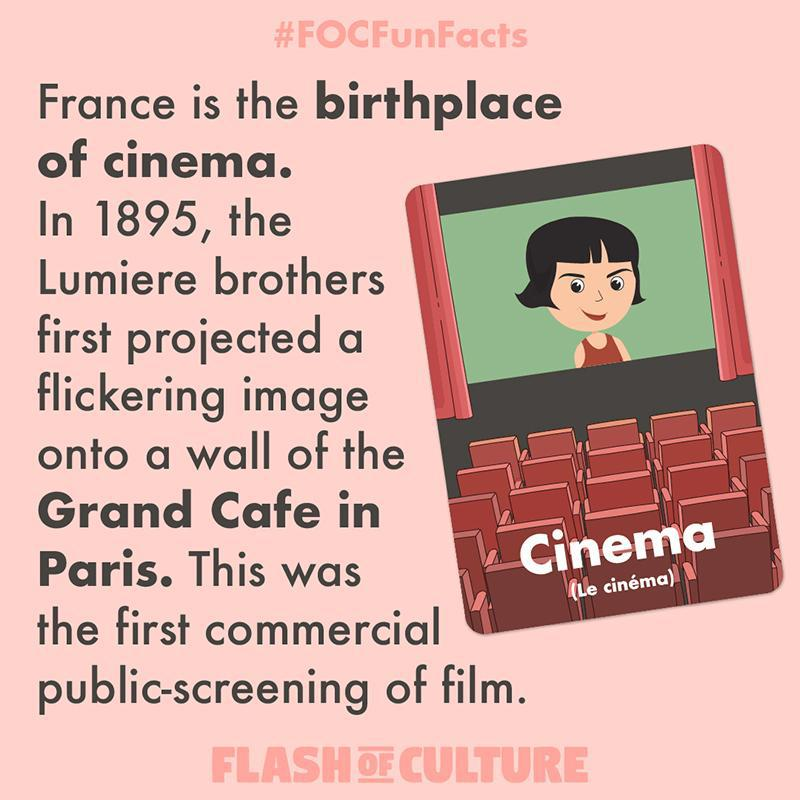 France the birth place of cinema fun fact