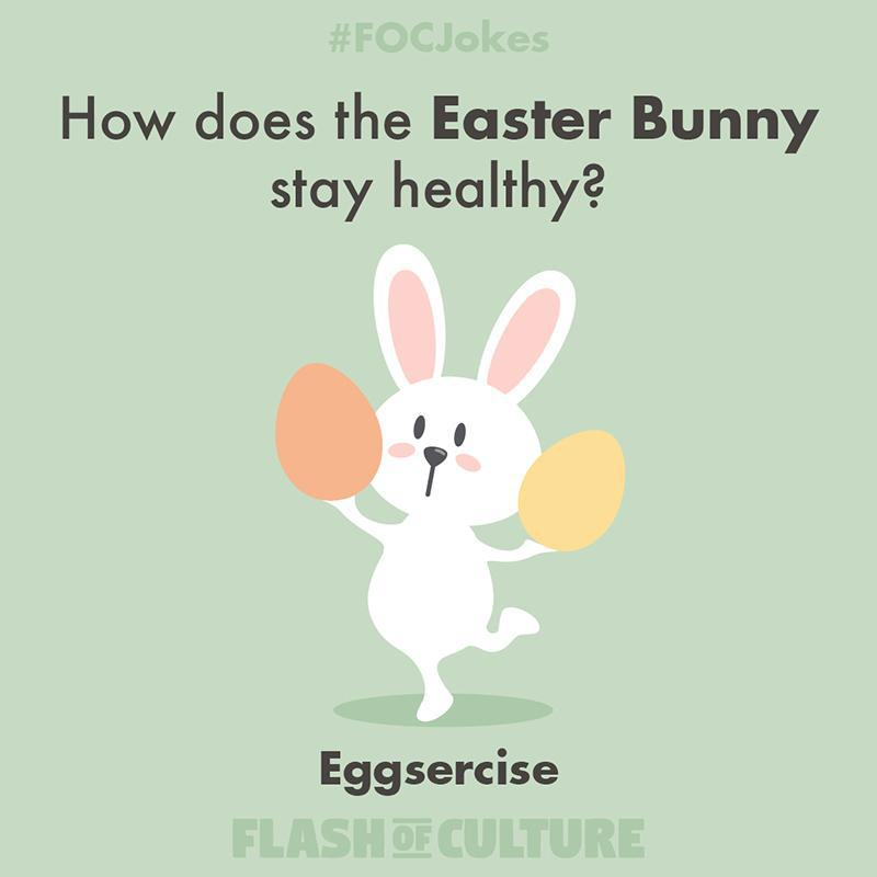 How does the Easter Bunny stay healthy?