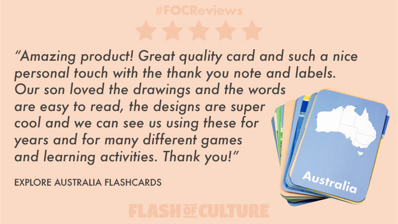 Australian flashcards review