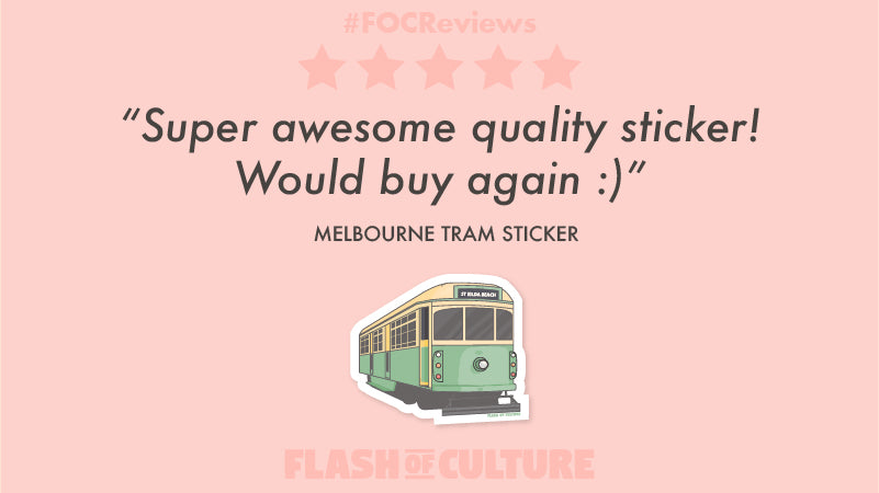 Melbourne tram sticker