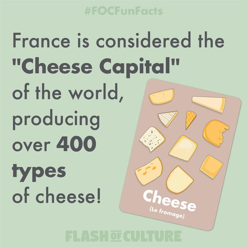 France is the cheese capital of the world