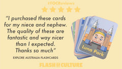 High quality Australian flashcards