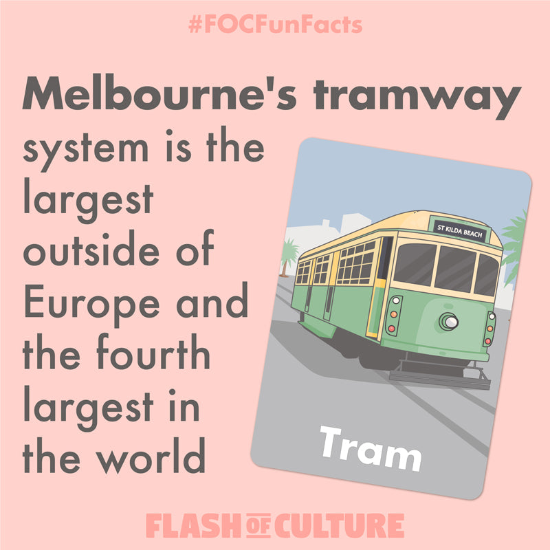 Melbourne's tramway fun fact
