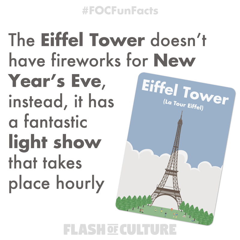 The Eiffel Tower on New Year's Eve