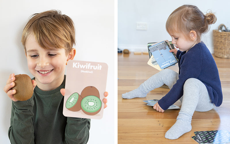 Kiwiana flashcards for kids