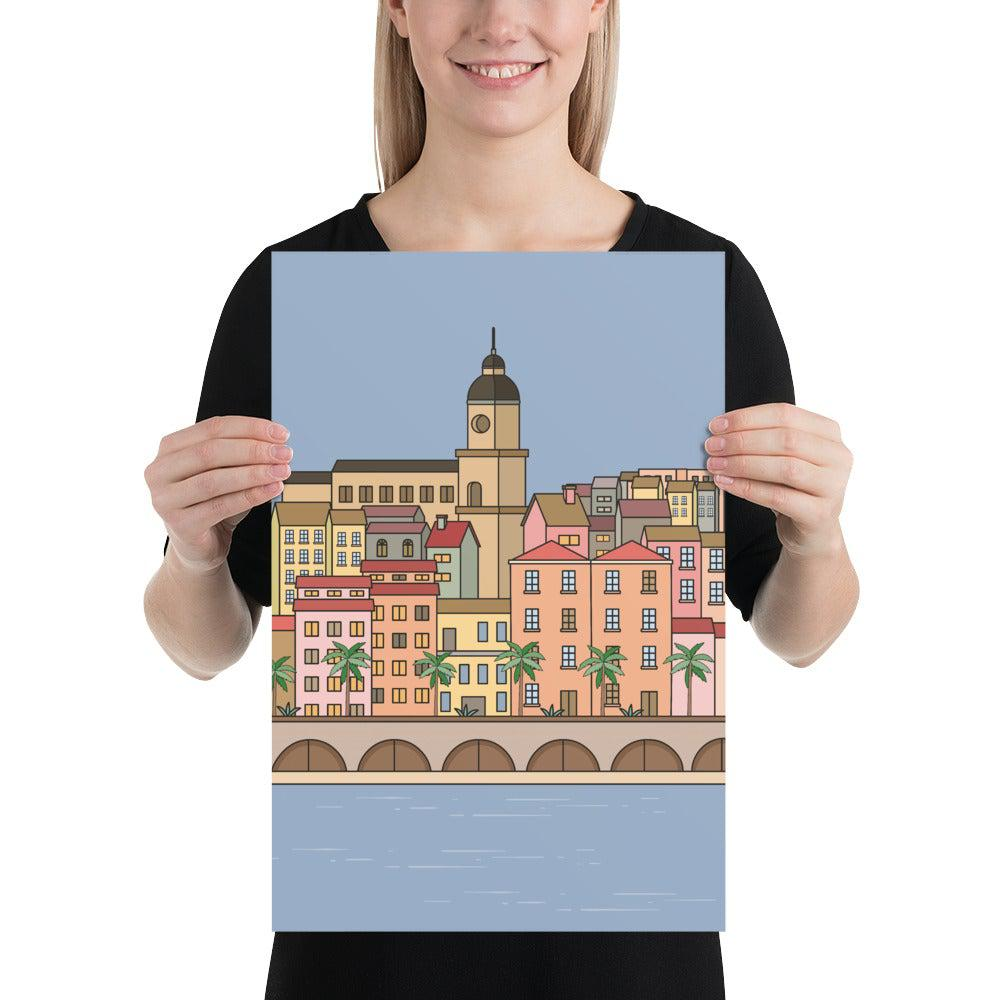 French Riviera Poster-Posters-Flash of Culture